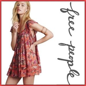 Free People Artemis Floral Tunic Size Small